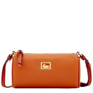 Dooney and Burke Dillen camel small leather bag